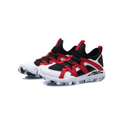 Sports Life Boy Li-Ning Young Lifestyle Shoes, Standard Black/Standard White/Cinnabar Red