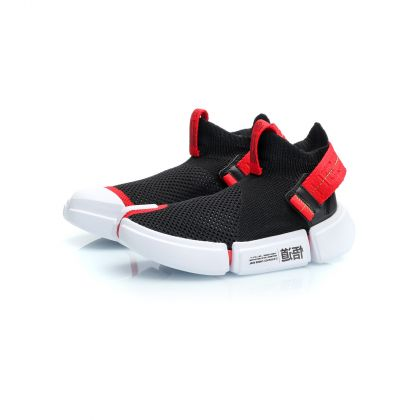 Wade Boy Li-ning Young Lifestyle Shoes, Standard Black/Cinnabar Red