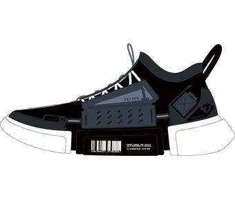 Wade Boy Li-ning Young Lifestyle Shoes, Standard Black/Nights Blue