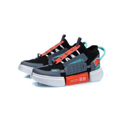 Wade Boy Li-ning Young Lifestyle Shoes, Flint Blue/Standard Black