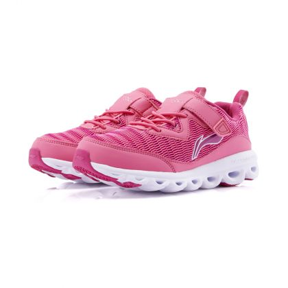 Girl Li-Ning Young Running Shoes, Hot Pink/Bright Rose Red