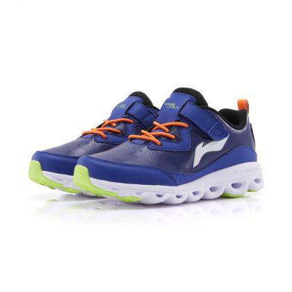 Boy Li-Ning Young Running Shoes, Cobalt Blue/Standard Black