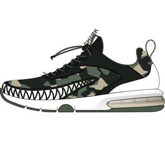 Boy Li-ning Young Running Shoes, Agave Green/Rosin Green