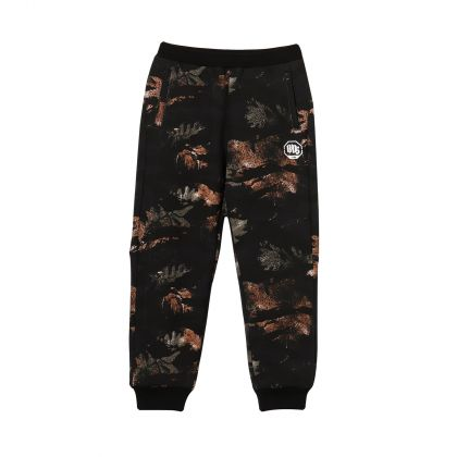 Bad5 Boy Sweat Pants, Black Camouflage