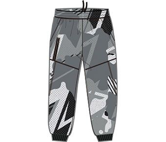 Sports Life Boy 3/4 Sweat Pants, Camoufl Age Grey