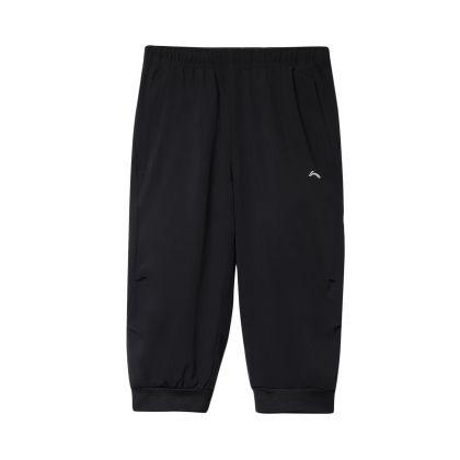 Running Boy 3/4 Track Pants, Standard Black