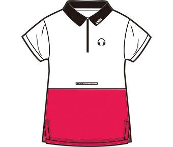 Sports Life Girl S/S Polo, Standard White/Berry Red