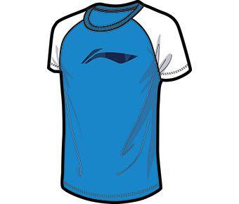 Running Boy S/S Top, Bright Blue/Standard White