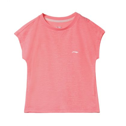 Running Girl S/S Top, Fluorescent Pink