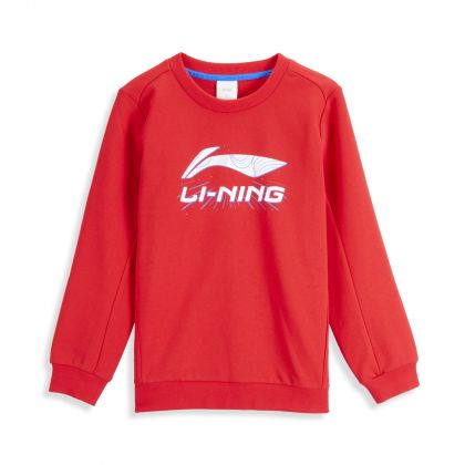 Training Boy PO Knit Top, Cinnabar Red