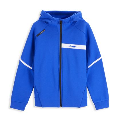 Training Boy FZ Knit Hoodie, Crystal Blue