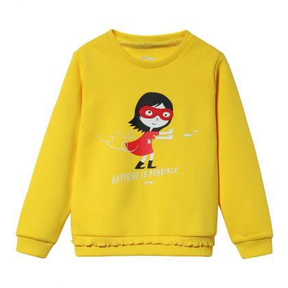 Sports Life Girl PO Knit Top, Bright Yellow