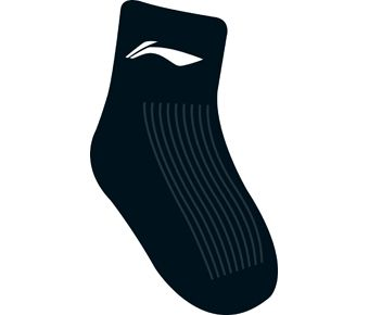 Sports Life Li-Ning Young Socks, Black