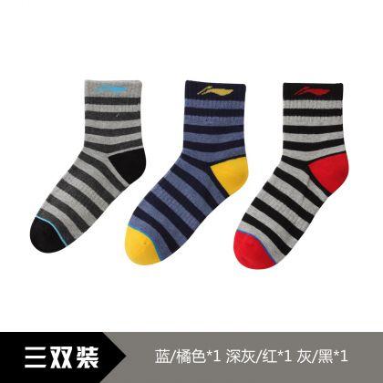 Sports Life Socks (3Pcs Pack), Blue/Orange、Dark Grey/Red、Gray/Black