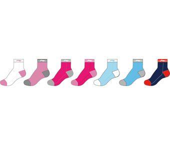 Sports Life Socks (7Pcs Pack), White/Pink、Pink、Rose/Gray、Rose/Pink、Blue、Blue、Tibetan Blue/Red