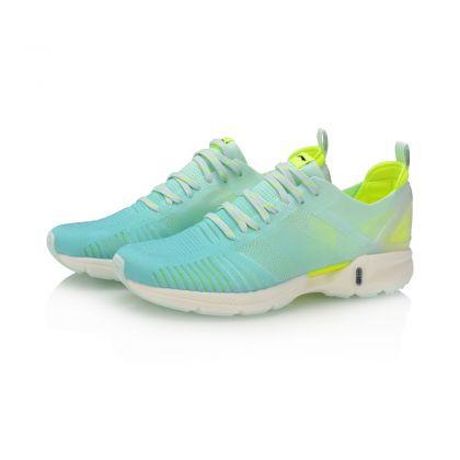 Female Light-weight Running Shoes, Fluorescent Jade Green/Flashing Bright Green