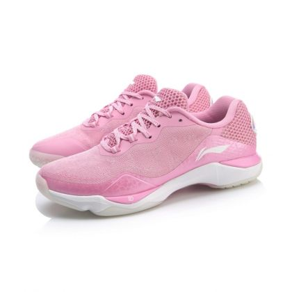 Female Professional Badminton Competition Shoes, Prism Pink/Standard White