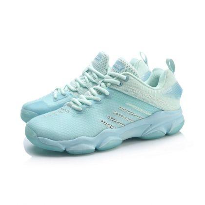 Female Badminton Professional Shoes, Light Blue/Soft Blue