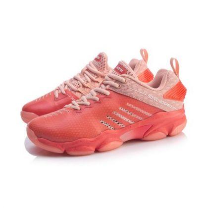 Female Badminton Professional Shoes, Bright Orange/Peach Bud Red