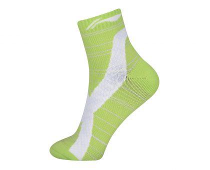 Socks-Full Terry, White/Green