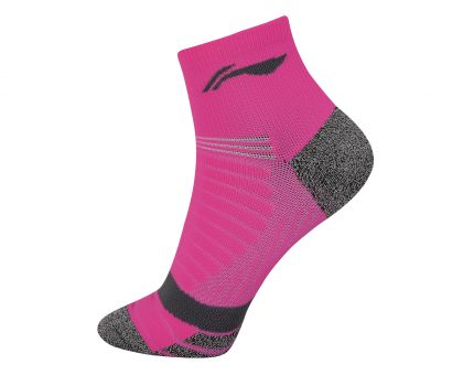 Socks-Full Terry, Fluorescence Pink/Gray