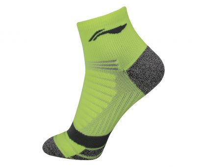 Socks-Full Terry, Fluorescence Green/Gray