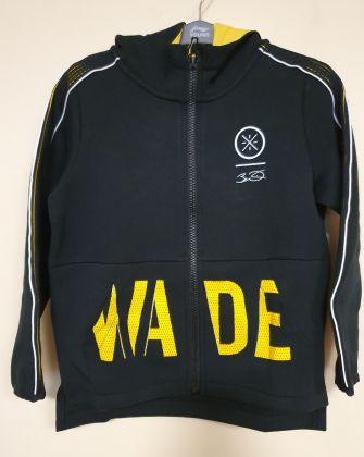 Wade Boy FZ Knit Hoodie, Standard Black