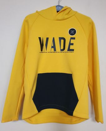Wade Boy PO Knit Hoodie, Chrome Yellow